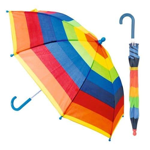 Drizzles Childs Striped Umbrella - Assorted Designs